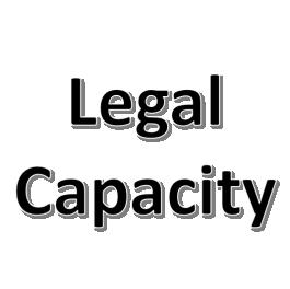 Legal Capacity